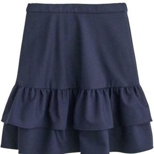 J Crew Tiered Ruffle Wool Lined Skirt